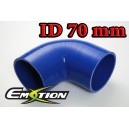 70mm 2.75 inch Silicone Elbow 90 Degree Hose Blue - Emotion ( EASHU03-90D70B )
