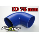 76mm 3 inch Silicone Elbow 90 Degree Hose Blue - Emotion ( EASHU03-90D76B )