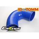 70mm 2.75 inch 135 Degree Silicone Elbow Hose Blue - Emotion ( EASHU03-135D70B )