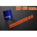 Silicone Coupling Hose 80mm 3.125 inch Length 76mm Blue - Autobahn88 ( ASHU01-80B )