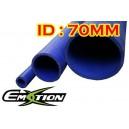 70mm 2.75 inch ID Silicone Straight Hose 1 Meter Blue - Emotion ( EASHU01-1M70B )