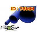 76mm 3 inch ID Silicone Straight Hose 1 Meter Blue - Emotion ( EASHU01-1M76B )