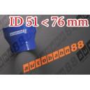 76mm to 51mm Silicone Straight Reducer Hose Silicon Blue - Autobahn88 ( ASHU02-5176B )