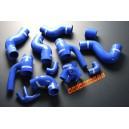 Silicone Turbo Boost Hose Kit Audi S4 B5 V6 Bi-Turbo 2.7L Intercooler AGB AZB (Blue) - Autobahn88 (ASHK51-B)
