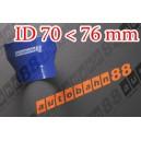 76mm to 70mm ID BLUE Straight Reducer Silicone Hose - Autobahn88 ( ASHU02-7076B )