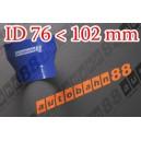 102mm to 76mm Silicone Straight Reducer Hose Silicon Blue - Autobahn88 ( ASHU02-76102B )