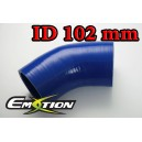 102mm 4 inch Silicone Elbow 45 Degree Hose Blue - Emotion ( EASHU03-45D102B )