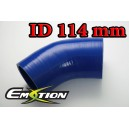 114mm 4.5 inch Silicone Elbow 45 Degree Hose Blue - Emotion ( EASHU03-45D114B )