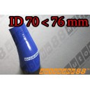 76mm to 70mm Silicone Reducer 45 Degree Elbow Hose Blue - Autobahn88 ( ASHU04A-7076B )