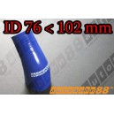 102mm to 76mm Silicone Reducer 45 Degree Elbow Hose Blue - Autobahn88 ( ASHU04A-76102B )