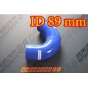 89mm 3.5 inch Silicone Elbow 135 Degree Hose Blue - Autobahn88 ( ASHU03-135D89B )