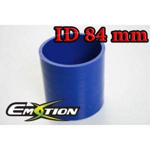 Silicone Straight Hose Coupler 3.2 inch 84mm Blue - Emotion ( EASHU01-84B )