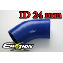 24mm 1 inch 45 Degree Silicone Hose Elbow Blue - Emotion ( EASHU03-45D24B )