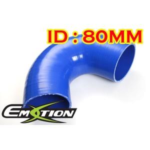 80mm 3.1 inch Silicone Elbow 135 Degree Hose Blue - Emotion ( EASHU03-135D80B )