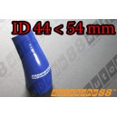 54mm to 44mm Silicone Reducer 45 Degree Elbow Hose Blue - Autobahn88 ( ASHU04A-4454B )