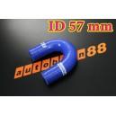 57mm 2.25 inch Silicone Elbow 180 Degree Hose Red / Blue / Black - Autobahn88 ( ASHU09-57B )