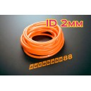 2mm ID Silicone Vacuum Hose Tubing 5 Meters Orange - Autobahn88 ( ASHU06-2O )