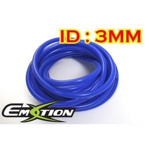 3mm ID Silicone Vacuum Hose Tubing Blue 3 Meters - Emotion ( EASHU06-3B )