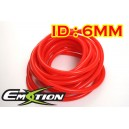 6mm ID Silicone Vacuum Hose Tubing Red 3 Meters - Emotion ( EASHU06-6R )
