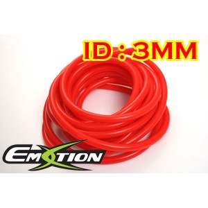 3mm ID Silicone Vacuum Hose Tubing Red 5 Meters - Emotion ( EASHU06-3R )
