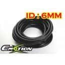 6mm ID Silicone Vacuum Hose Tubing Red 1 Meter - Emotion ( EASHU06-6BK )