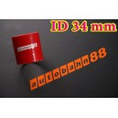 Silicone Coupling Hose 34mm 1.375 inch Length 76mm Red - Autobahn88 ( ASHU01-34R )