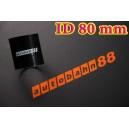 Silicone Coupling Hose 80mm 3.125 inch Length 76mm Black - Autobahn88 ( ASHU01-80BK )