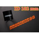 Silicone Coupling Hose 102mm 4 inch Length 76mm Black - Autobahn88 ( ASHU01-102BK )