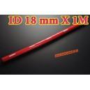 18mm ID Silicone Straight Hose 1 Meter Red (0.7 inch) - Autobahn88 ( ASHU01-1M18R )