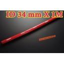 34mm ID Silicone Straight Hose 1 Meter Red (1.35 inch) - Autobahn88 ( ASHU01-1M34R )