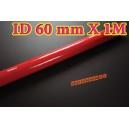 60mm ID Silicone Straight Hose 1 Meter Red (2.375 inch) - Autobahn88 ( ASHU01-1M60R )