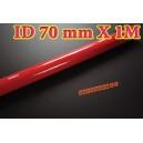 70mm ID Silicone Straight Hose 1 Meter Red (2.75 inch) - Autobahn88 ( ASHU01-1M70R )