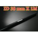 38mm ID Silicone Straight Hose 1 Meter Black (1.5 inch) - Autobahn88 ( ASHU01-1M38BK )