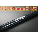 102mm ID Silicone Straight Hose 1 Meter Black (4 inch) - Autobahn88 ( ASHU01-1M102BK )