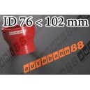 102mm to 76mm Silicone Straight Reducer Hose Silicon Red - Autobahn88 ( ASHU02-76102R )