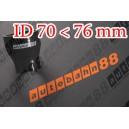 76mm to 70mm ID Black Straight Reducer Silicone Hose - Autobahn88 ( ASHU02-7076BK )