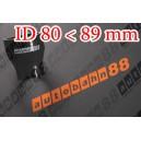 90mm to 80mm Silicone Straight Reducer Hose Silicon Black - Autobahn88 ( ASHU02-8089BK )