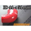 54mm to 44mm Silicone Reducer 90 Degree Elbow Hose Red - Autobahn88 ( ASHU04-4454R )