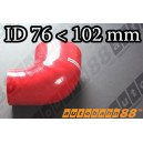 102mm to 76mm Silicone Reducer 90 Degree Elbow Hose Red - Autobahn88 ( ASHU04-76102R )