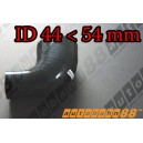 54mm to 44mm Silicone Reducer 90 Degree Elbow Hose Black - Autobahn88 ( ASHU04-4454BK )