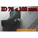 102mm to 76mm Silicone Reducer 90 Degree Elbow Hose Black - Autobahn88 ( ASHU04-76102BK )