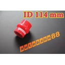 114mm 4.5 inch Silicone Hump Hose Bellow Connector Red - Autobahn88 ( ASHU05-114R )