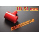 51mm 2 inch Silicone T Piece Hose Dump Valve Red - Autobahn88 ( ASHU07-51R )