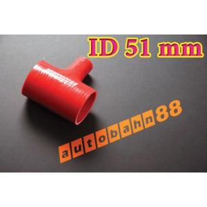 51mm 2 inch Silicone T Piece Hose Dump Valve Red - Autobahn88 ( ASHU07-51R )