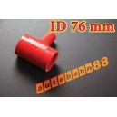 76mm 3 inch Silicone T Piece Hose Dump Valve Red - Autobahn88 ( ASHU07-76R )