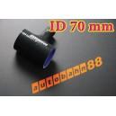 70mm 2.75 inch Silicone T Piece Hose Dump Valve Black - Autobahn88 ( ASHU07-70BK )