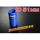 51mm 2 inch Corrugated Silicone Hose for Turbocharger Systems - Autobahn88 ( ASHU08-51B )