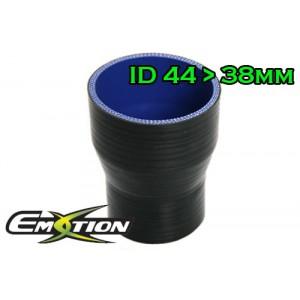 44mm 38mm Silicone Straight Reducer Hose Silicon Black - Emotion ( EASHU02-3844BK )